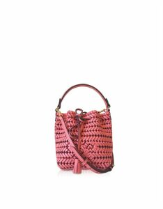 Anya Hindmarch Designer Handbags, The Neeson Calf Leather Drawstring Bucket Bag