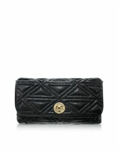 Emporio Armani Designer Handbags, Laminated Neoprene Clutch