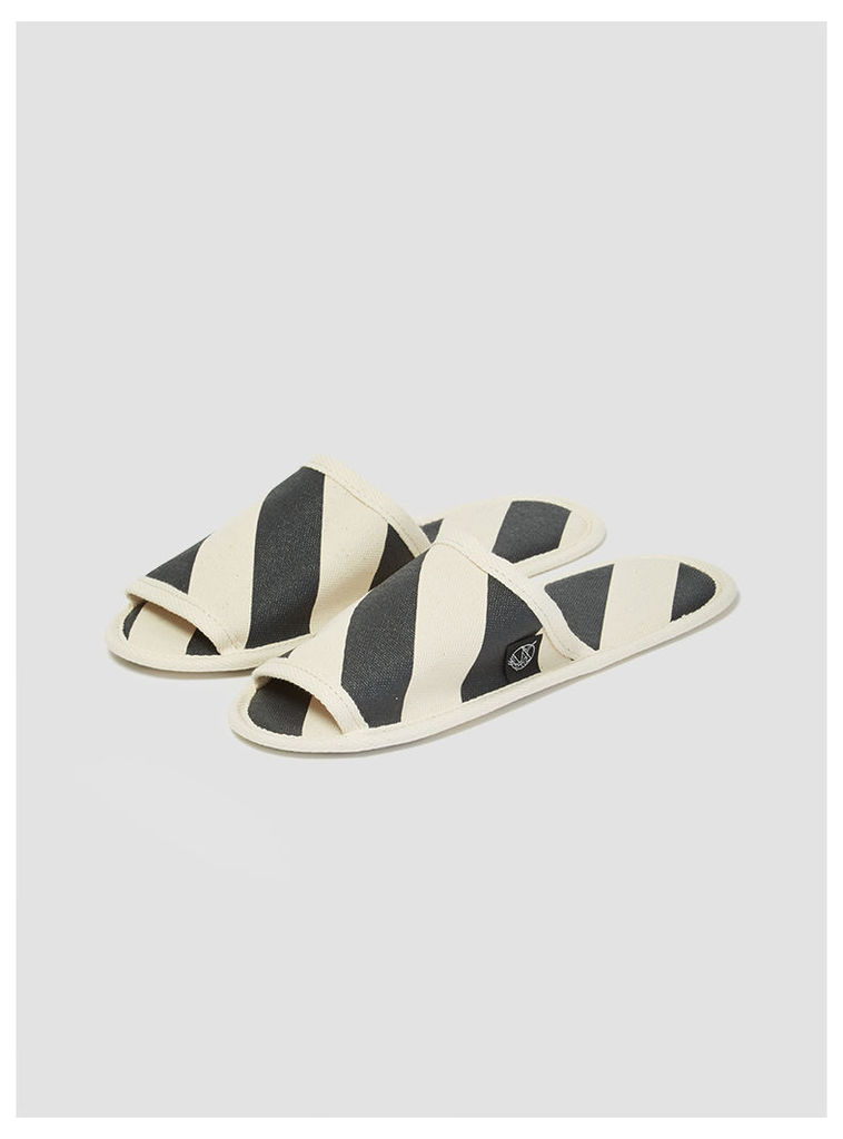 Hanelca Canvas Slippers with Bag Stripes Womenswear