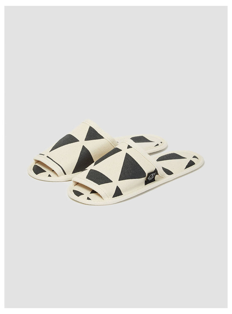 Hanelca Canvas Slippers with Bag Triangles Womenswear