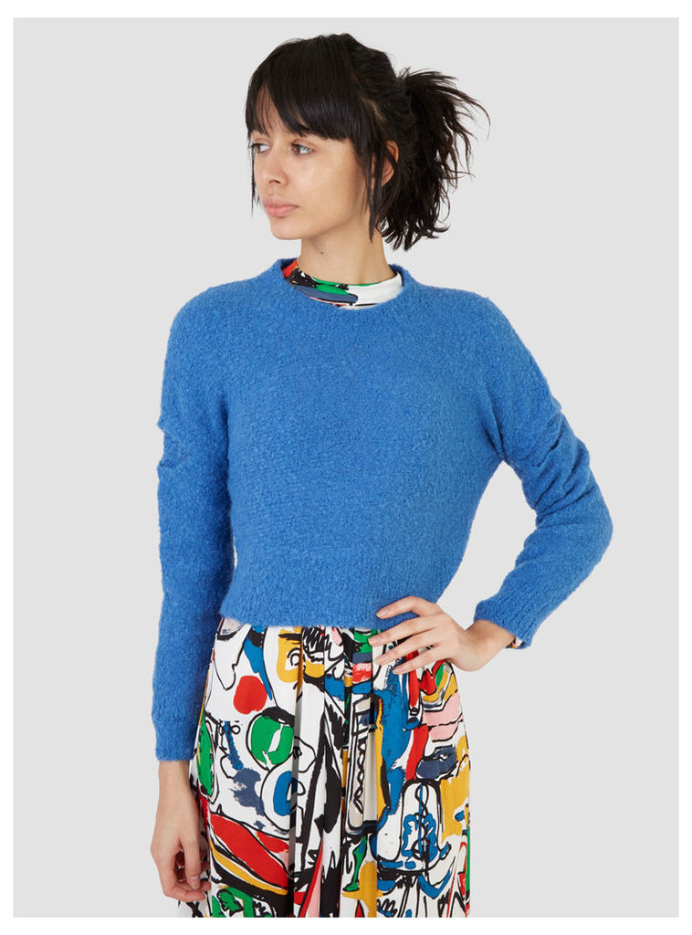 Rachel Comey Boucle Cropped Pullover Blue Womenswear