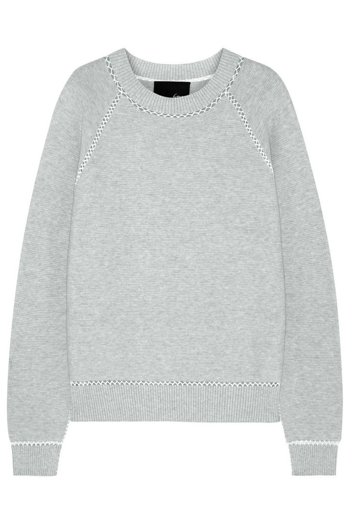 Line - Warwick Ribbed Cotton-blend Sweater - Light gray