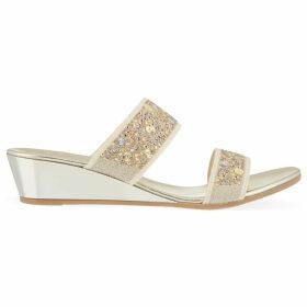 Carvela Comfort Stella studded wedge sandals, Women's, Size: EU 36 / UK 3 Women, Taupe