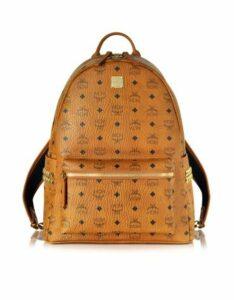 MCM Designer Handbags, Cognac Stark Medium Backpack