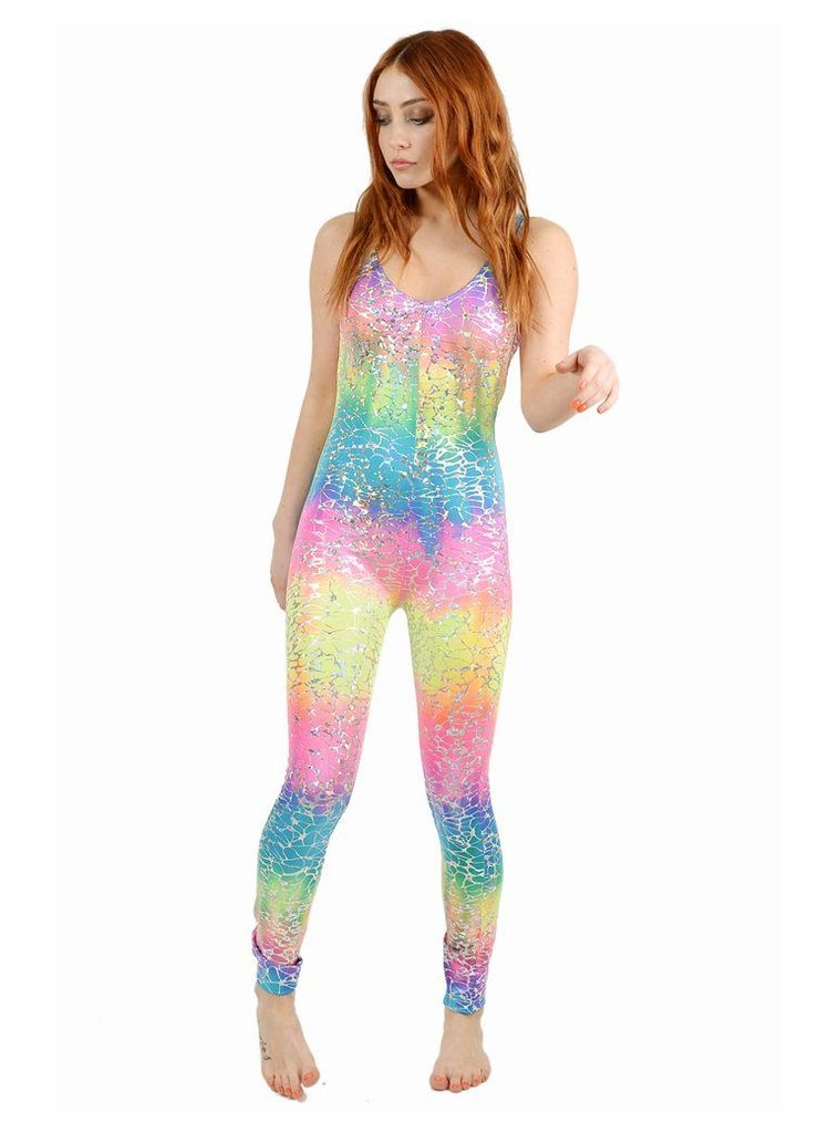 Rainbow Crackle Catsuit - M/L