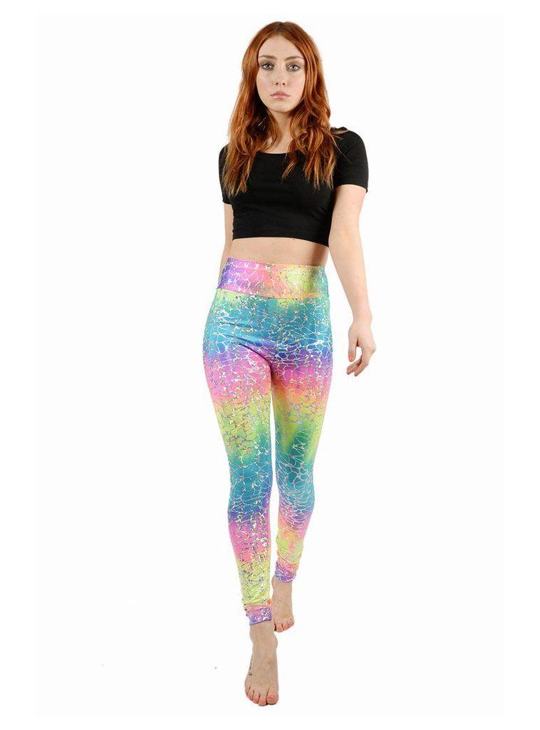 Rainbow Crackle Leggings - M/L