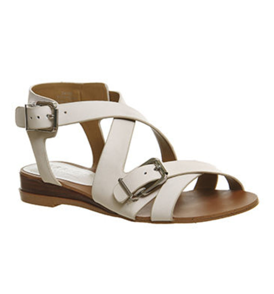 Office Boulevard Wedge Sandal OFF WHITE LEATHER