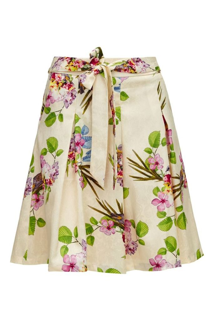 Almost Famous Floral Garden Party Skirt, Cream