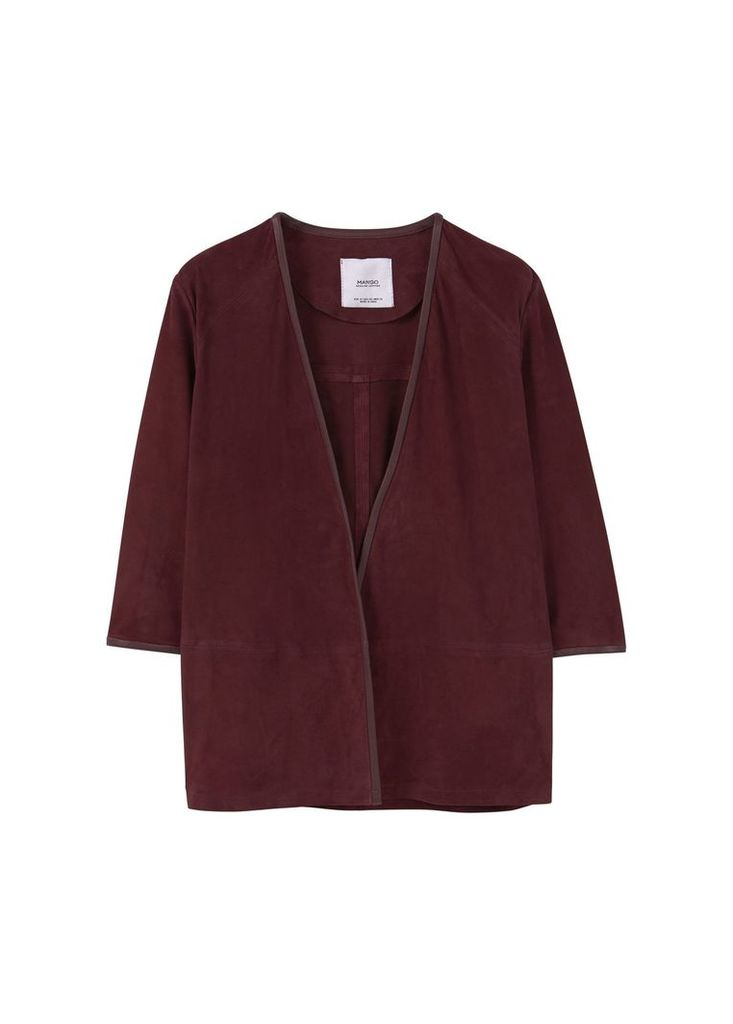 Mango Suede jacket, Red