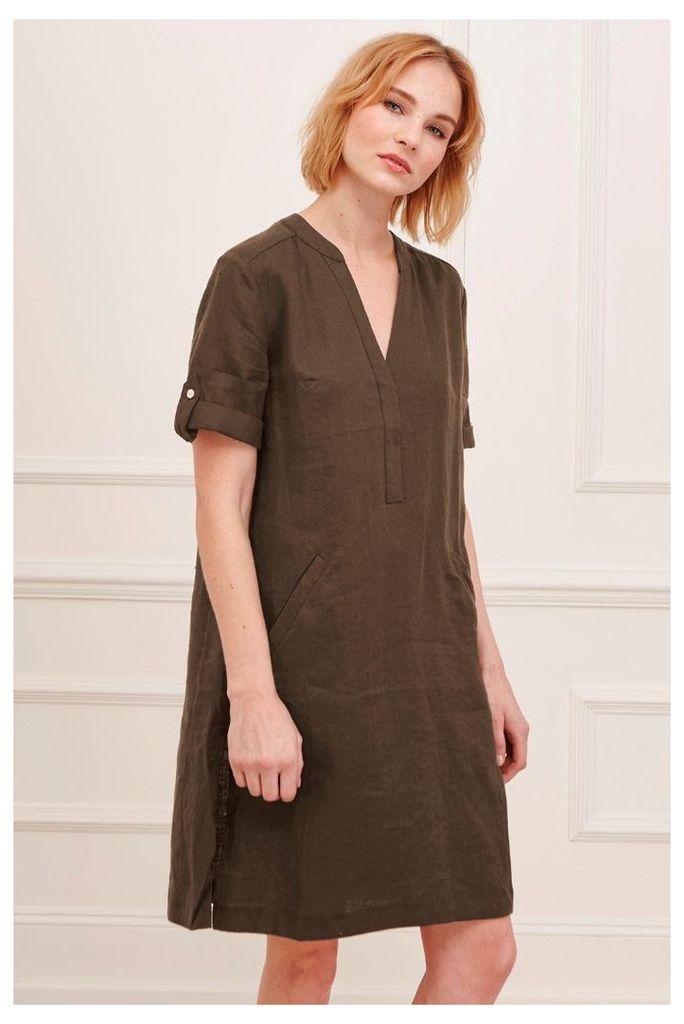 Shropshire Linen Smock Dress
