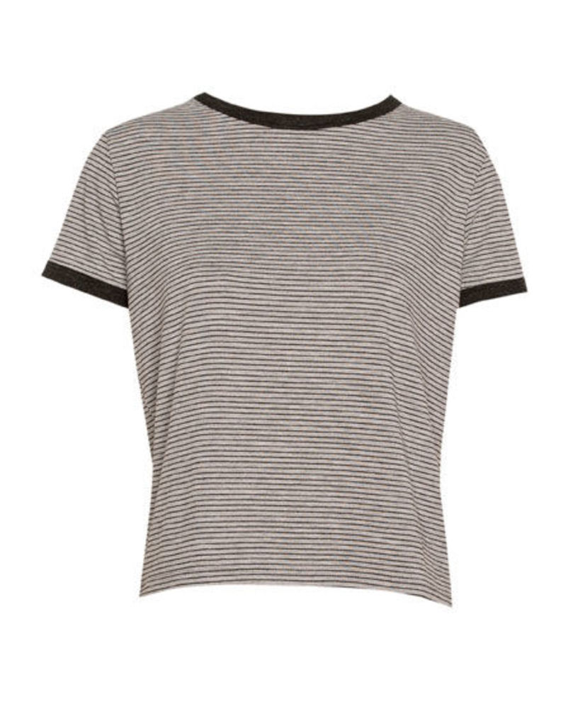 SHORT SLEEVED T-SHIRT WITH PIPING