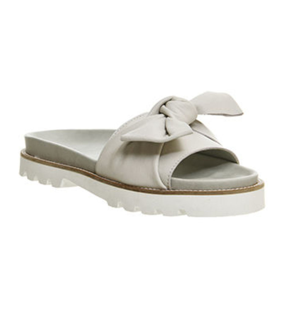 Office Barcelona Bow Detail Footbed Sandal WHITE LEATHER