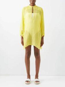 Nili Lotan - Margaux Pinstripe Virgin Wool Trousers - Womens - Navy