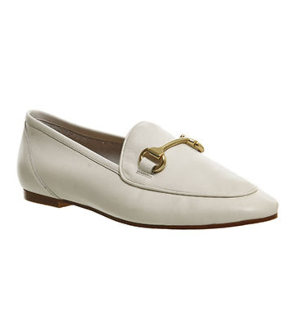 Office Dapper Trim Loafer OFF WHITE LEATHER