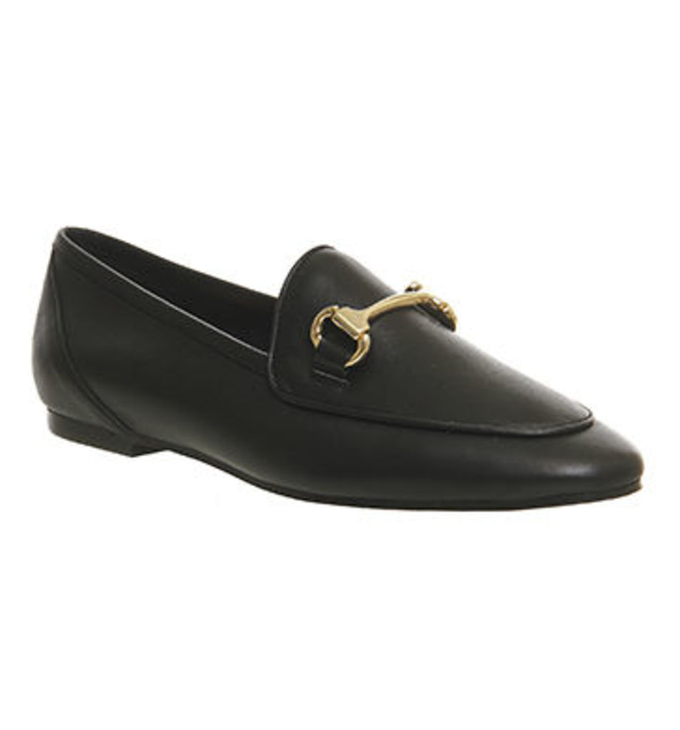 Office Dapper Trim Loafer BLACK LEATHER