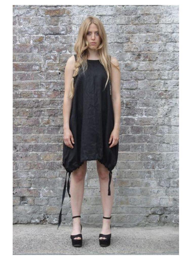 Parachute black mini dress - S,M,L.