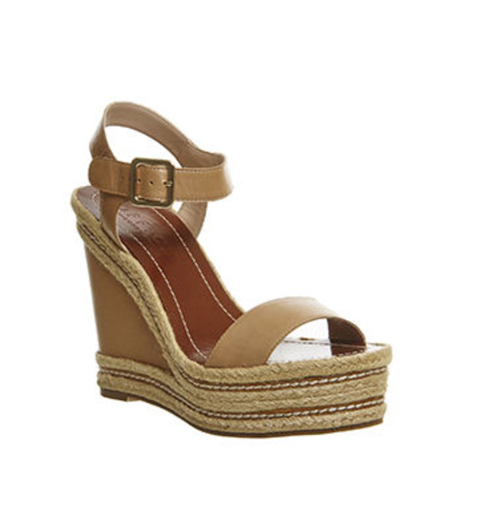 Office Alyssa Rope Feature Wedge NUDE LEATHER