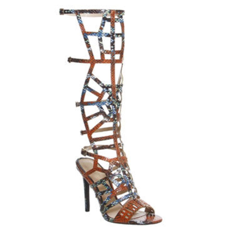Office Arise High Leg Gladiator Sandal MULTI SNAKE