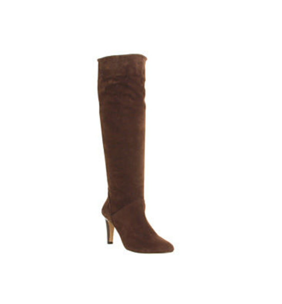 Office Nouveau Suede Slouch boots BROWN SUEDE