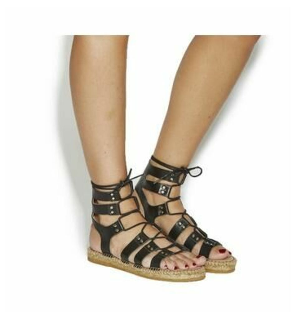 Gaimo for OFFICE Jacobo Sandal BLACK LEATHER