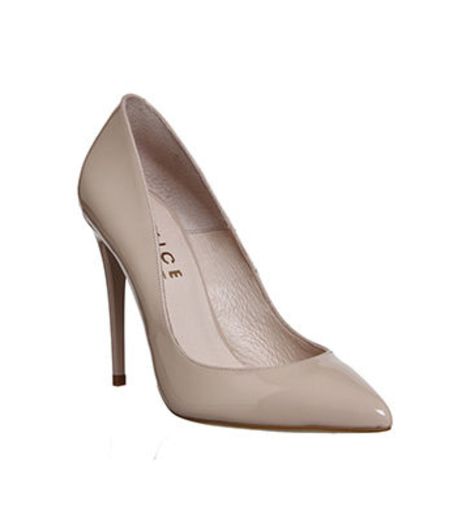 Office Non Stop Point Court LIGHT NUDE PATENT LEATHER