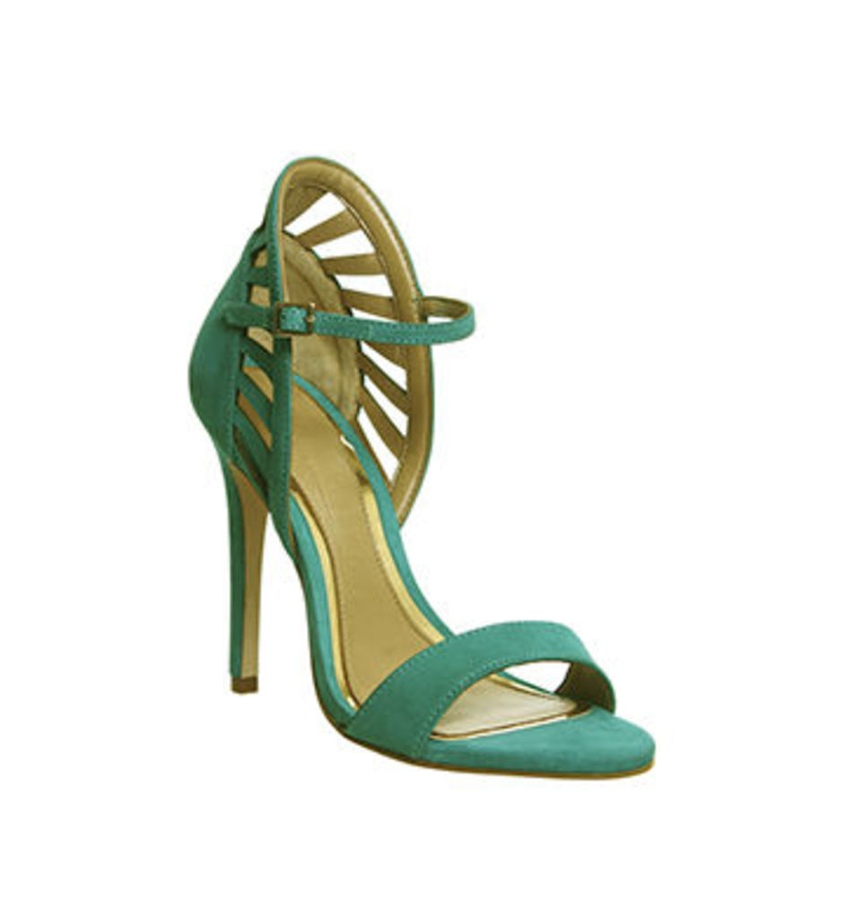 Office Awesome Back Detail Single Sole Sandal AQUA NUBUCK