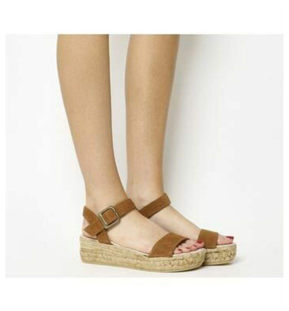 Gaimo for OFFICE Jyle Flatform Sandal BROWN SUEDE