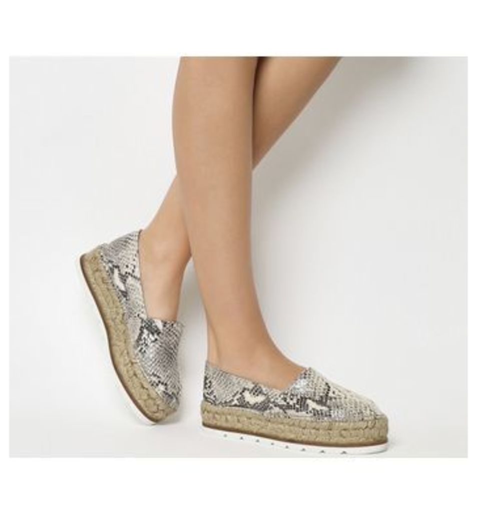 Gaimo for OFFICE Silencio Wedge Espadrille SNAKE EFFECT LEATHER