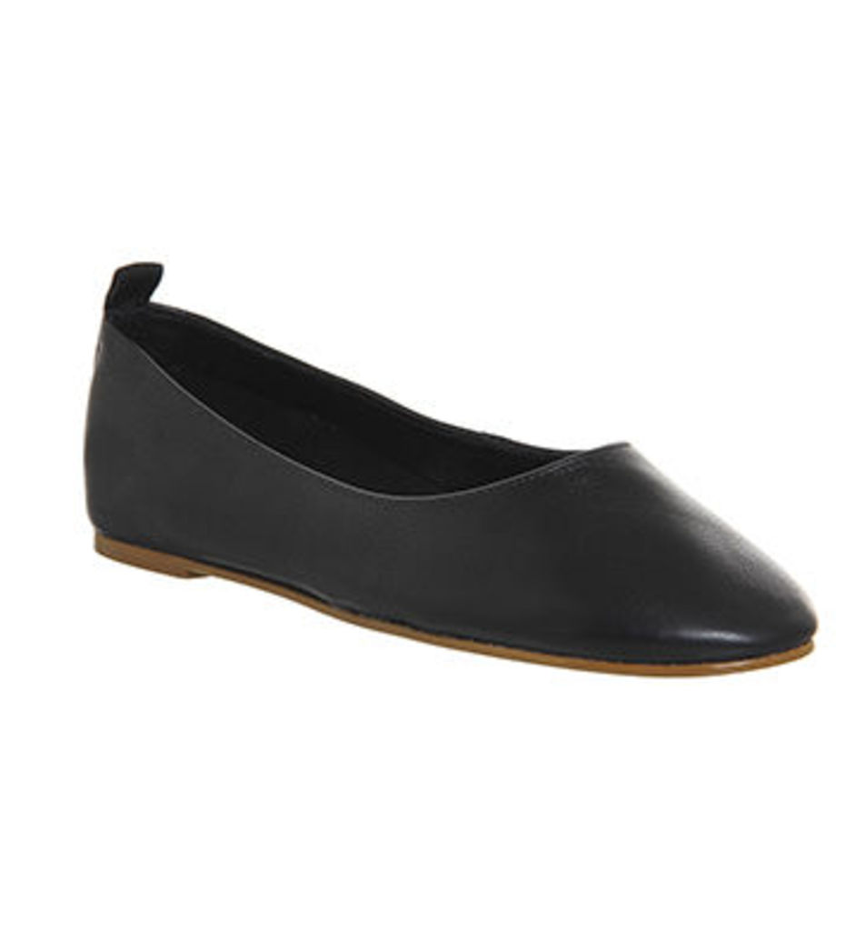 Office Primrose High Vamp Ballerina BLACK LEATHER