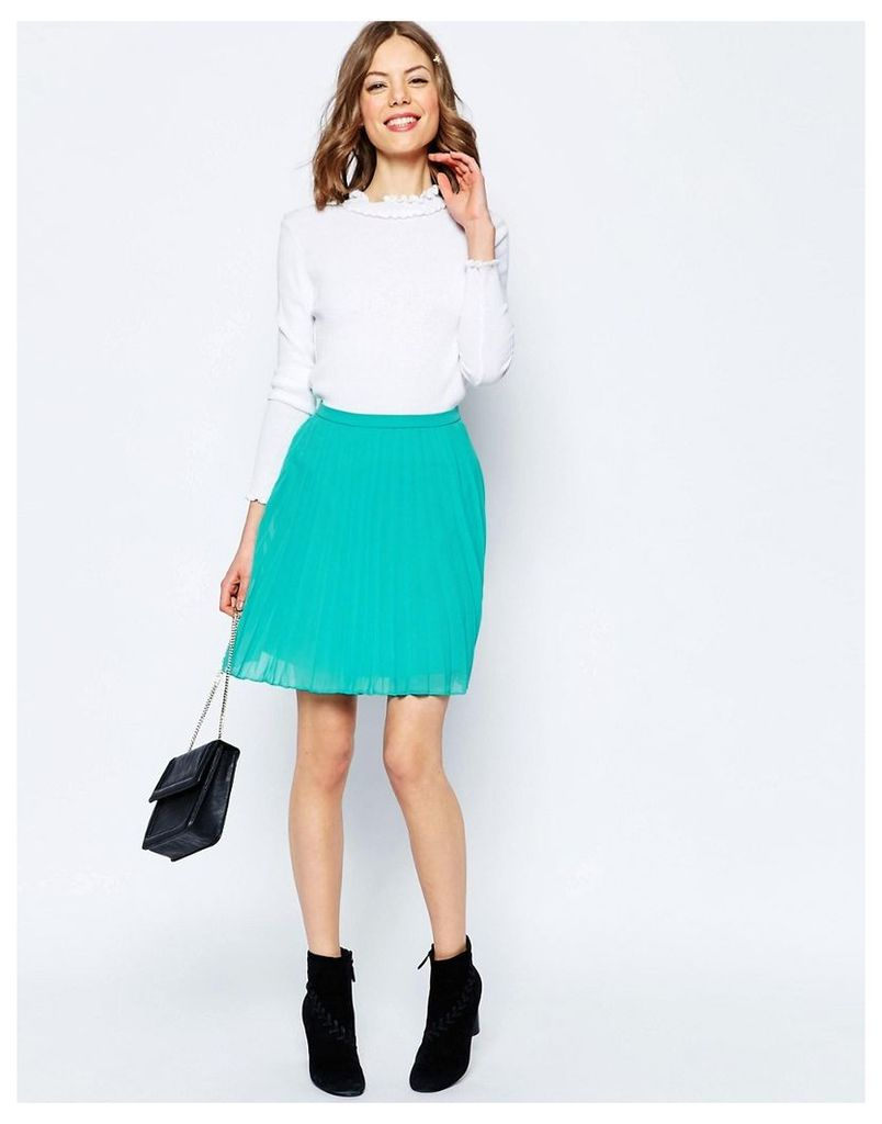 ASOS Pleated Mini Skirt - Turquoise
