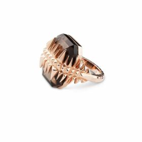 Kasun - Black Sea Glacier Ring Rose Gold & Smoky Topaz