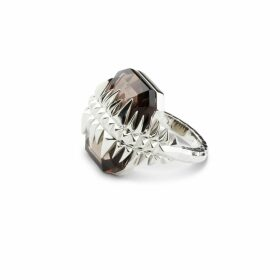 Kasun - Black Sea Glacier Ring Silver Smoky Topaz