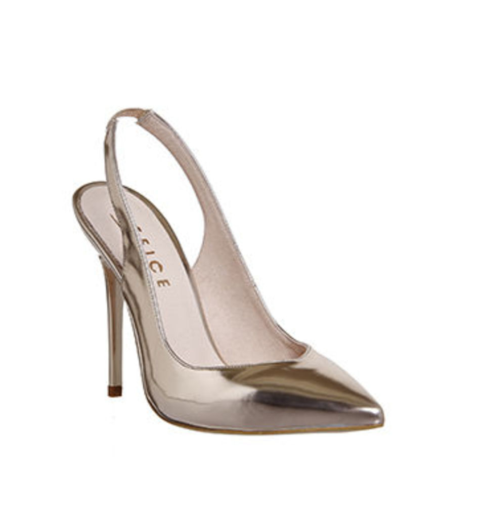 Office Amplify Slingback Point Court ROSE GOLD MIRROR