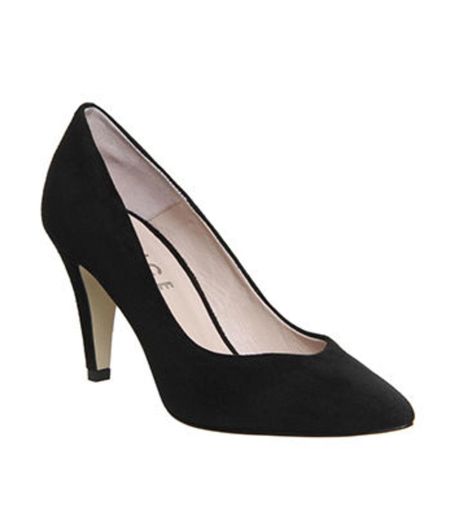 Office Wallflower Court Shoe BLACK SUEDE