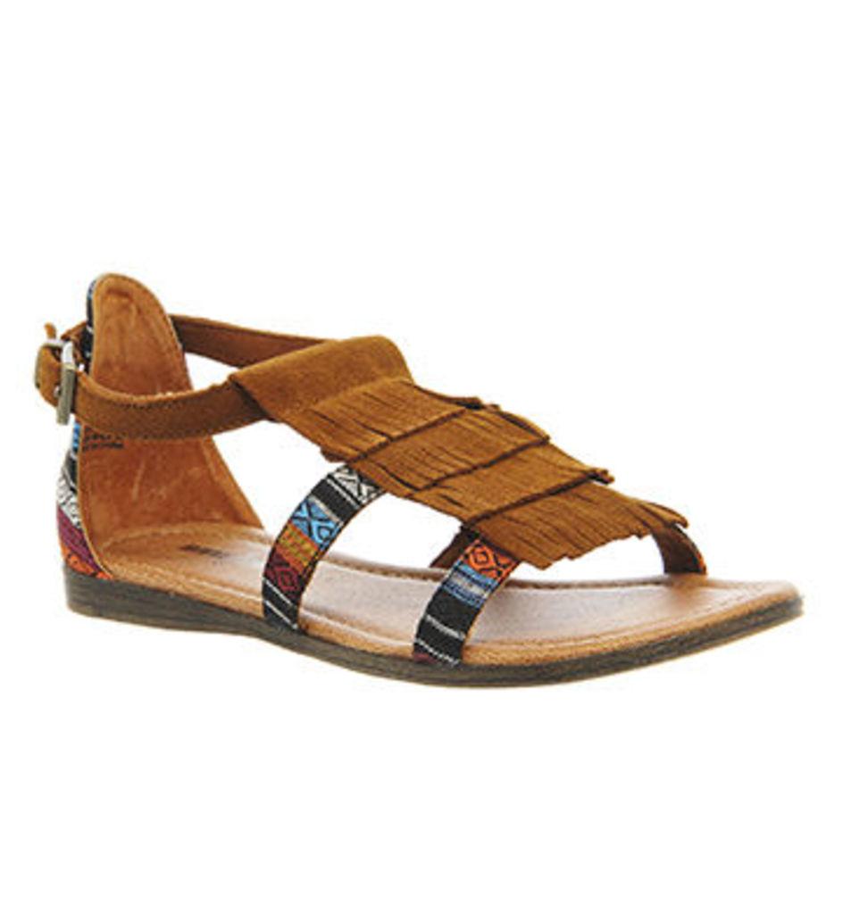 Minnetonka Maui Sandal BROWN SUEDE
