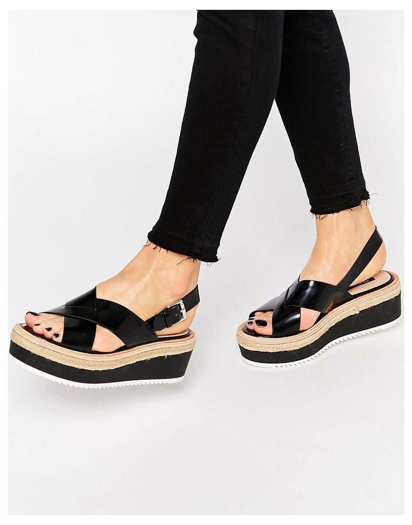 Pull&Bear Platform Sandal - Black
