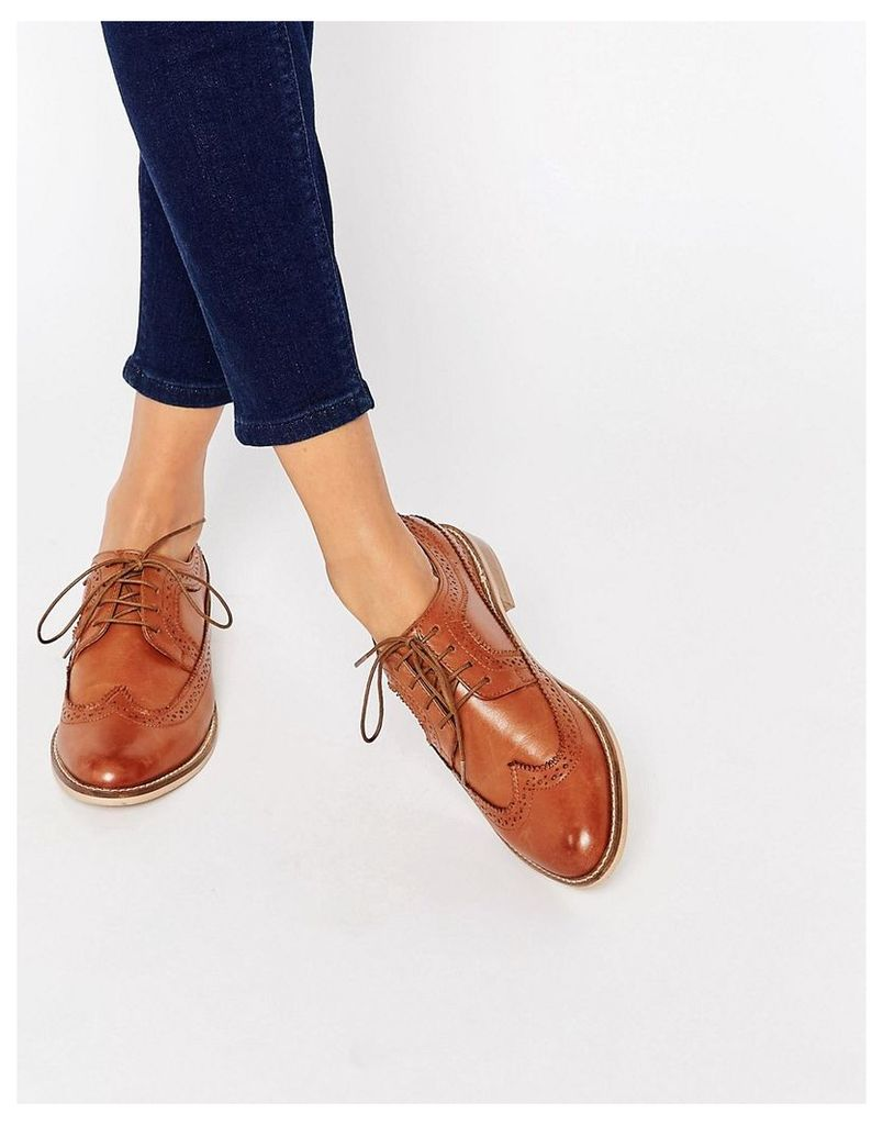 ASOS MAI Leather Brogues - Tan