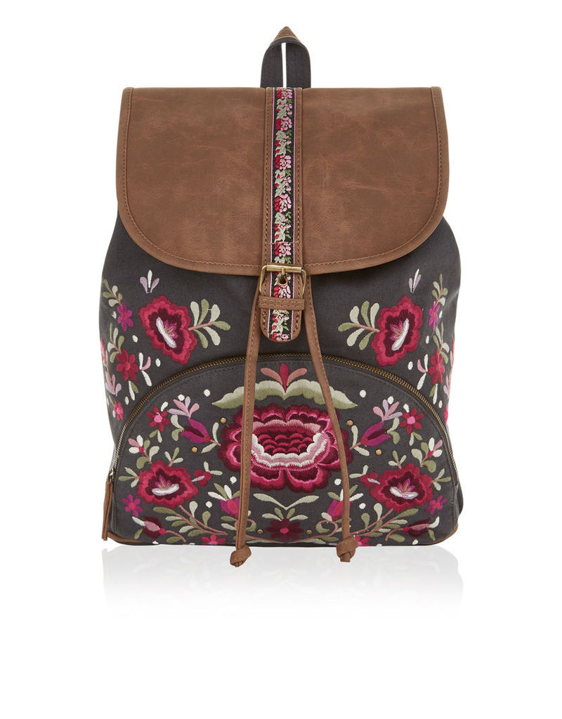 Carolina Folk Embellished Backpack