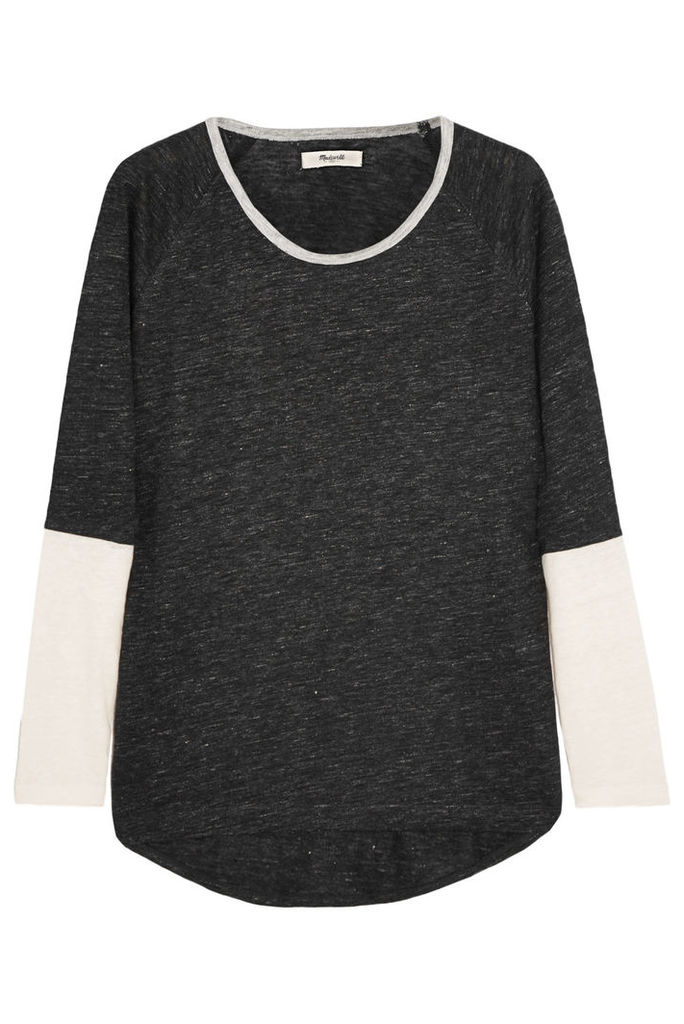Kim color-block slub linen-jersey top