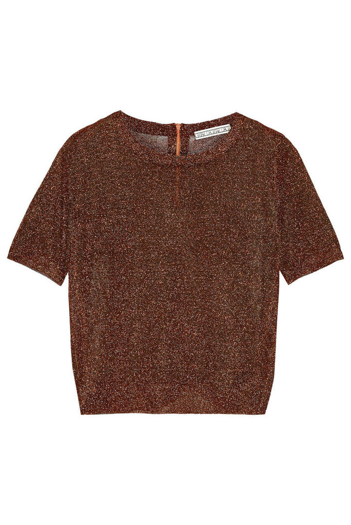 Dagmar - Kos Metal Metallic Stretch-knit Top - Bronze