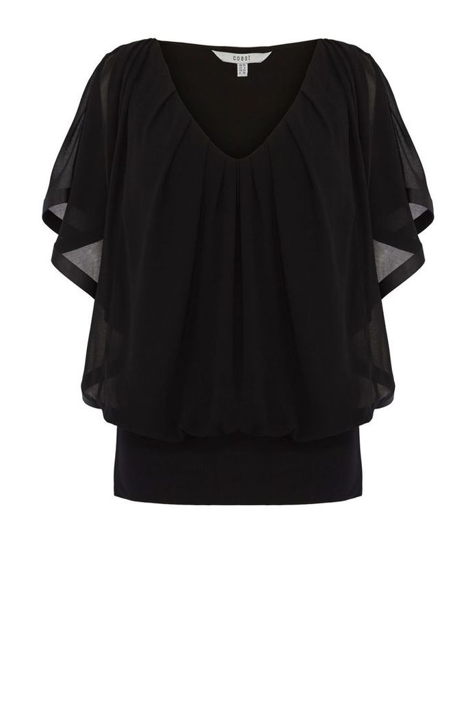Coast Clarette Calla Top, Black
