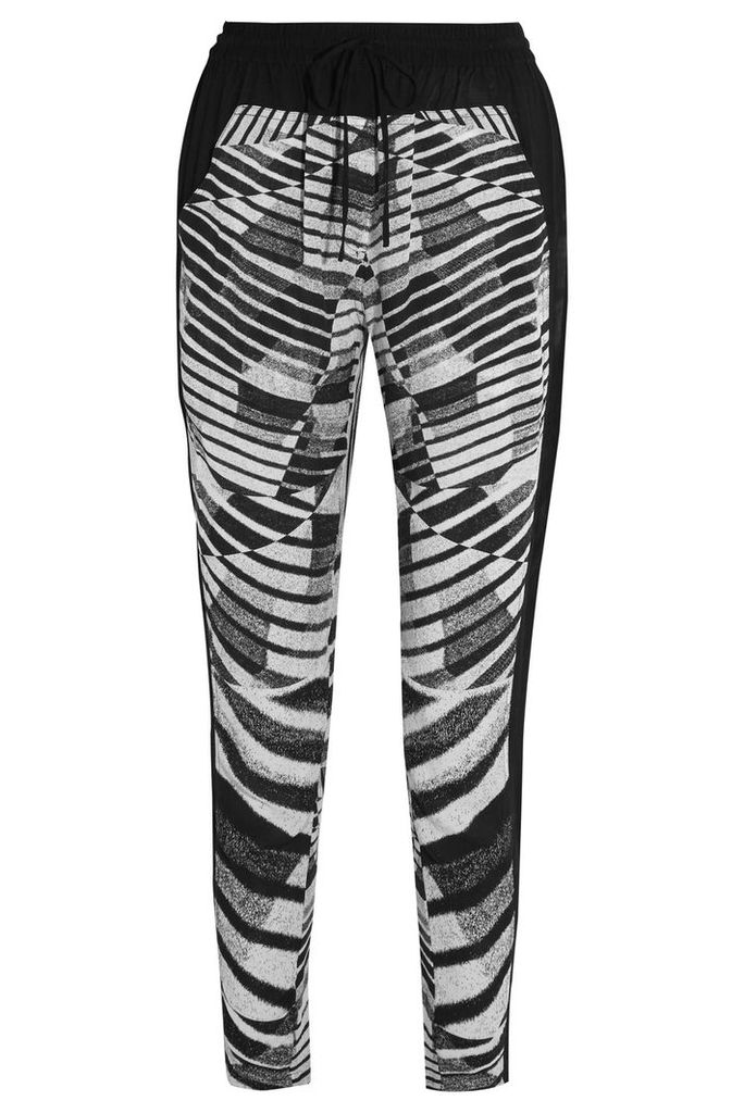 DKNY - Zebra-print Voile Tapered Pants - Black