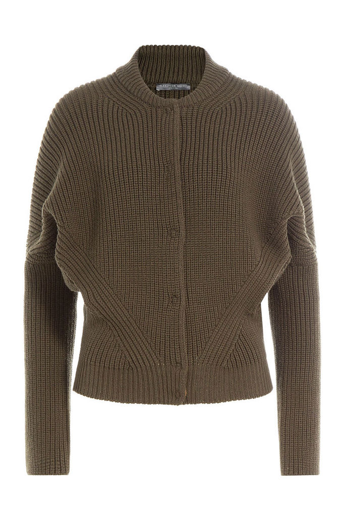 Alexander McQueen Ribbed Wool Jacket