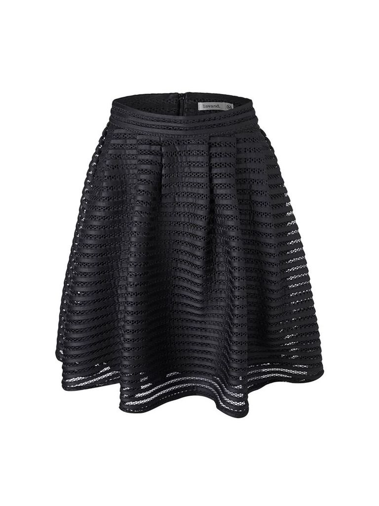 Lavand Bonded Mesh Skirt, Black