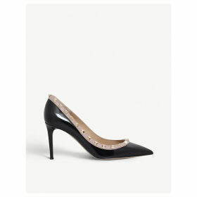 Valentino Rockstud 85 patent-leather courts, Women's, Size: EUR 38 / 5 UK, Black