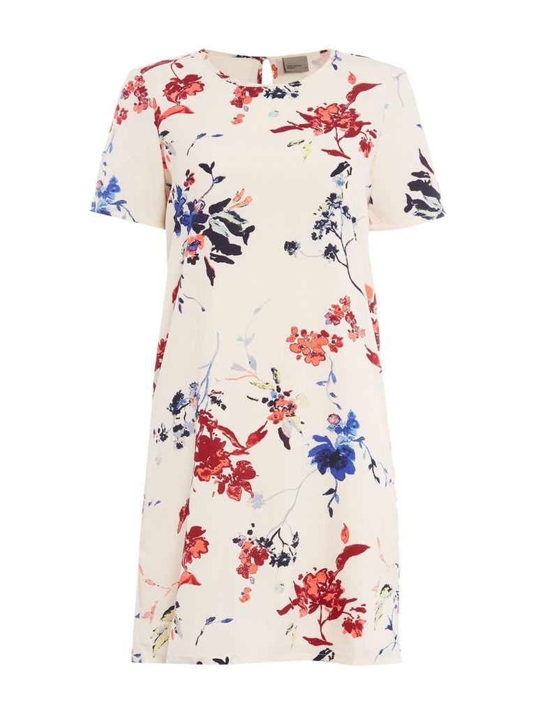 Vero Moda Sleeveless printed shift dress, Multi-Coloured