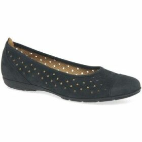 Gabor  Ruffle Womens Punched Detail Casual Shoes  women's Shoes (Pumps / Ballerinas) in Blue