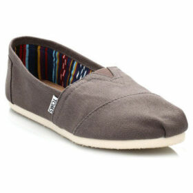 Toms  Womens Ash Canvas Classic Espadrilles  women's Slip-ons (Shoes) in Brown