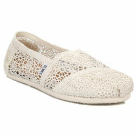 Toms  Womens Natural Morocco Crochet Classic Espadrilles  women's Slip-ons (Shoes) in Black
