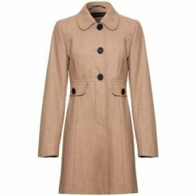 Anastasia  - Orange Womens Wool Winter 60`s Coat  women's Coat in Beige